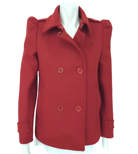RedValentino giacca peacoat red